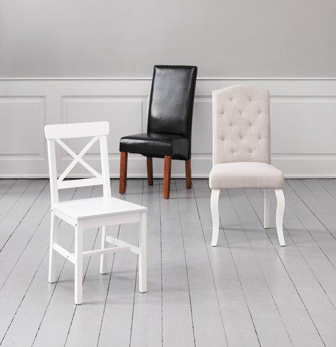 Dining chair STENLILLE sand/white