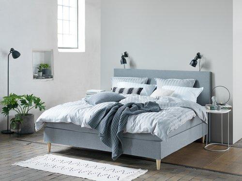 Lenjerie de pat+cearsaf NELL 200x220