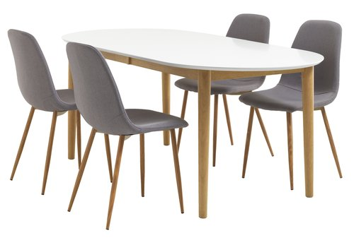 Dining table EGENS 90x190/270 white