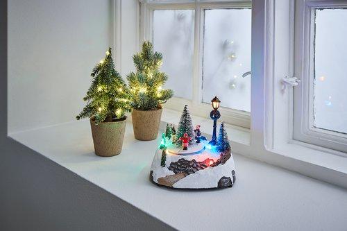 Kerstdorp ELBAIT 12x17x14cm