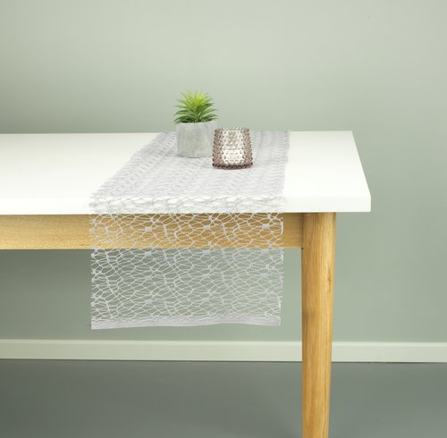Table runner LURO 30x140 grey