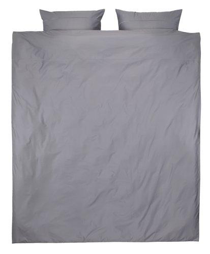 Dekbedovertrek ALVA satijn 240x220 grijs