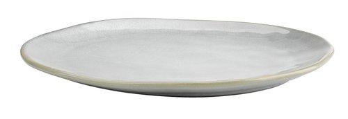 Tallerken TONE B30×L25×H3 cm stentøj grå