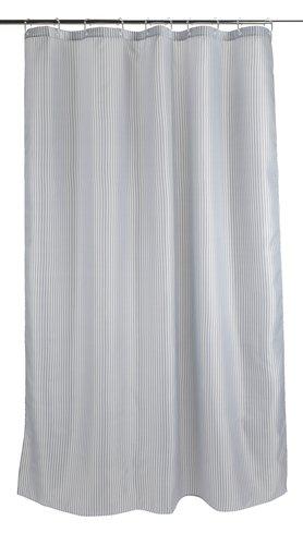 Douchegordijn SUNDBY 150x200 grijs/wit