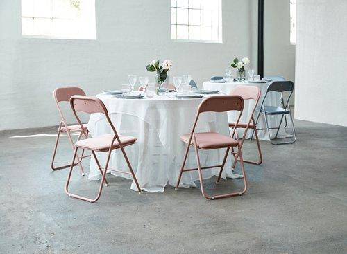Sklopiva stolica VIG ružičasti baršun