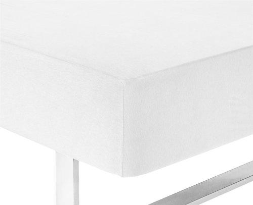 Plahta žersej 80/90x200x25 cm bijela
