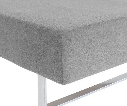 Hoeslaken badstof 170/180x200x35 grijs