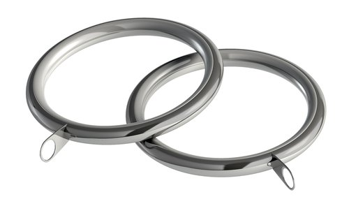 Curtain ring D28mm 8 pack silver