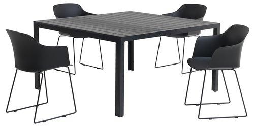 Asztal JERSORE SZ140xH140 fekete