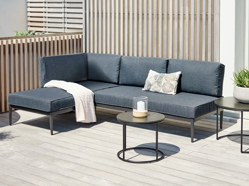 Canapé lounge KVITFJELL 2,5 pers. noir