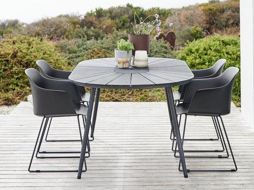 Miza FURUSET D195 + 4 stoli SANDVED