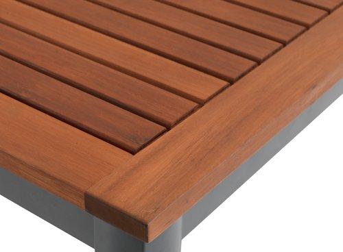 YTTRUP D150 drevo+4 MADERNE sivá