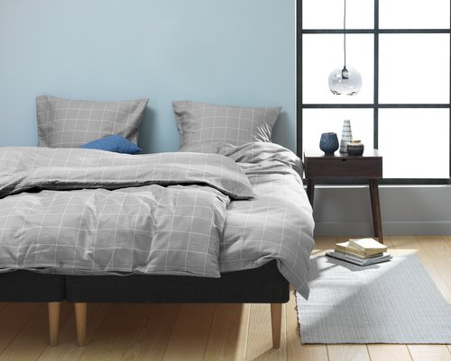 Duvet cover THERESA Flannel KNG grey