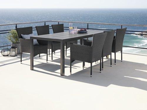 Τραπέζι MADERUP Π90xΜ205 μαύρο