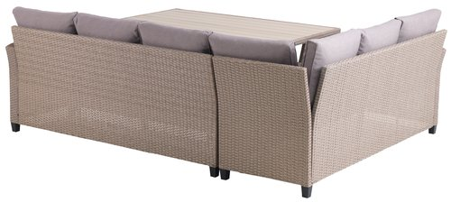 Lounge-Set ULLEHUSE 6 Pers. natur