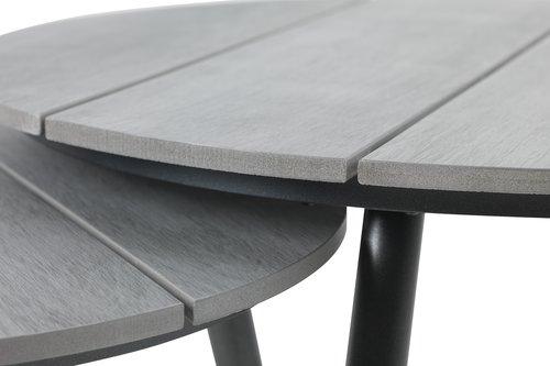 Settbord VEBBESTRUP grå