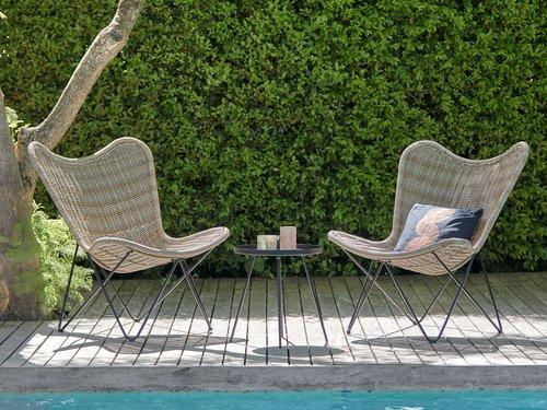 Vrtni lounge stol VALLESTRUP naravna
