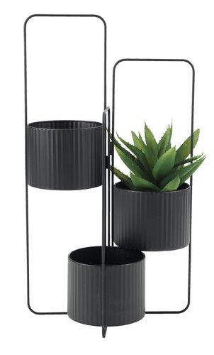 Support pot d/fleur AND l37xL37xH72 noir