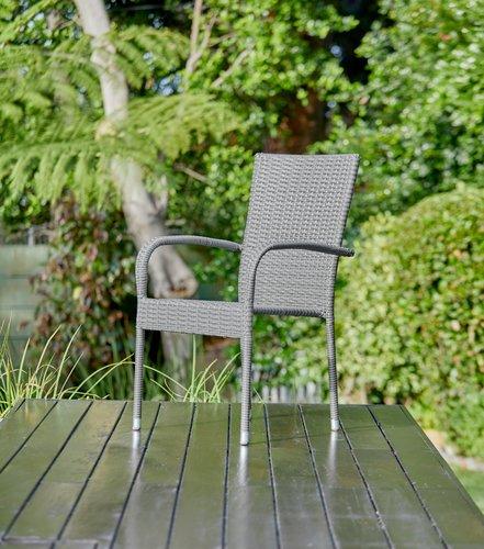 Stacking chair GUDHJEM grey