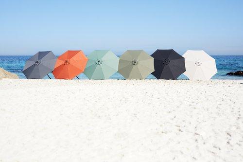 Umbrelă de soare AGGER 300 gri deschis