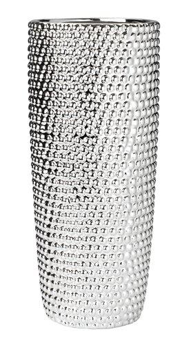 Βάζο URBAN Ø13xΥ31cm ασημί