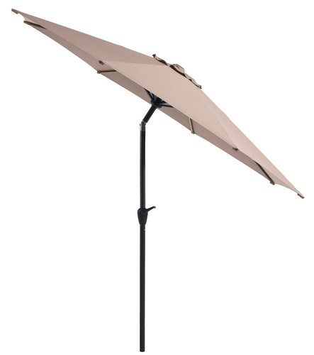 Parasol forain AGGER Ø300 gris clair