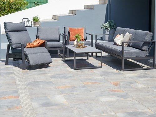 Комплект мебели VONGE 5 места, черен
