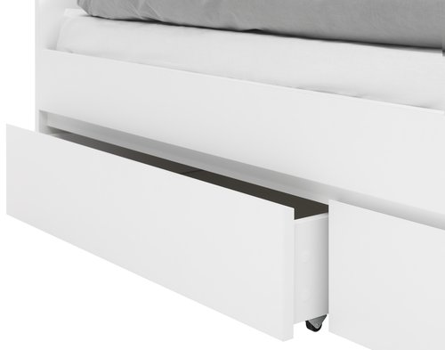 Posteljni okvir LIMFJORDEN 90x200 bela