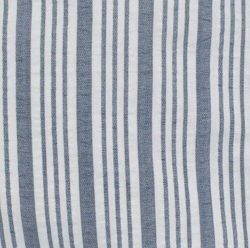 Sengesett LINA krepp blå/hvit