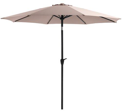 Market parasol AGGER D300 light grey