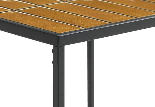 Rohový stolík HARSTAD 43x47 čierna