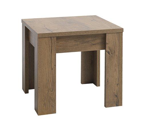 Klubska mizica VEDDE 50x50 divji hrast