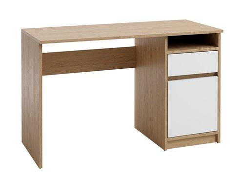 Bureau BILLUND 54x120 blanc/chêne