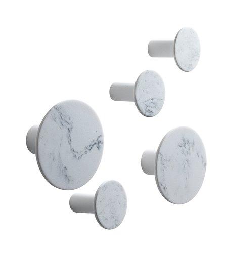 Knager HADSTEN marmor 5 stk/pk