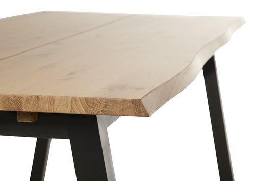 Spisebord SKOVLUNDE 90x200 lys eik