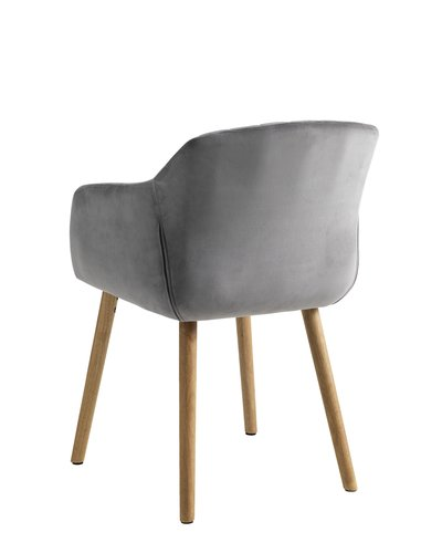 Dining chair ADSLEV velvet grey