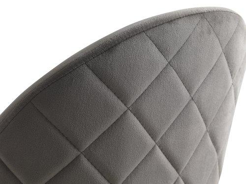 Barstol GRINDSTED sammet grå/svart