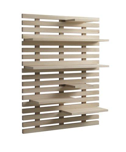 Wall shelf KETTINGE 6 shelves natural
