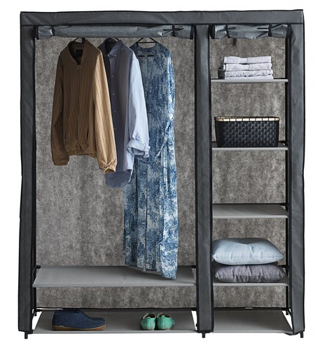 Wardrobe DAMHUS 149x174 dark grey