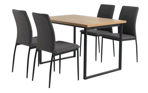 Miza AABENRAA + 4 stoli TRUSTRUP