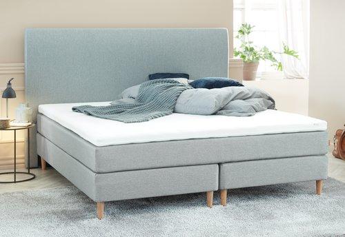 Sänggavel 200x125 H30 CURVE grå-27