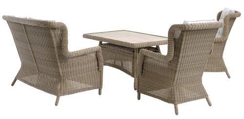 Lounge stolica FALKENBERG natur