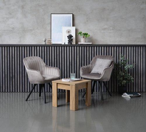 Stolić VEDDE 50x50 divlji hrast