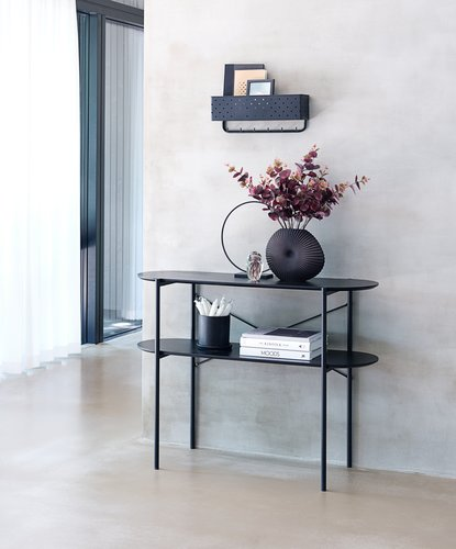 Console table PEDERSKER 36x100 black