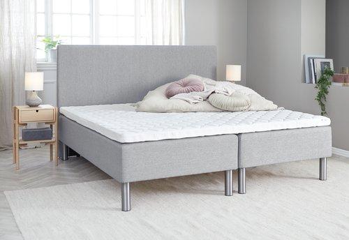 Sänggavel 180x115 H10 PLAIN grå-27