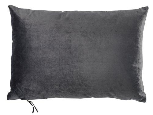Cushion LILJE velour 35x50 grey