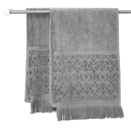 Handdoek SVANESUND 50x70 grijs
