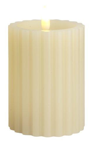Lys ODEN Ø8xH10cm hvid m/LED