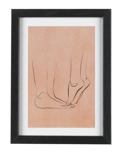 Cornice OSCAR 13x18cm nero