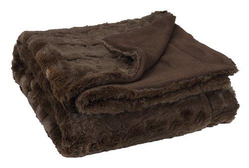 Pelspledd MYGGBLOM 130x170 brun